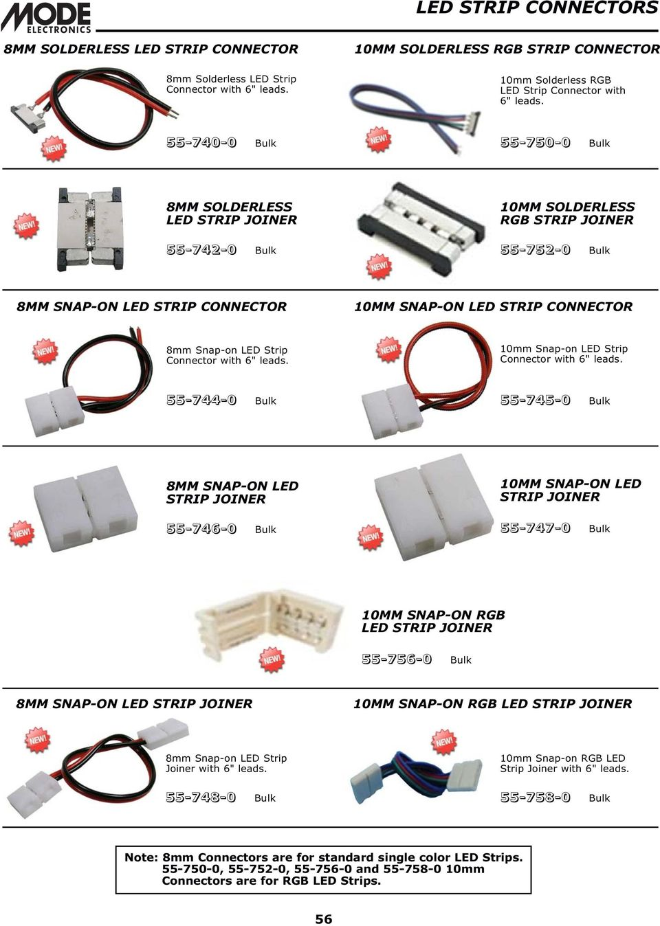 Indicator Lamps Led Replacement Pdf 120v Strips Rgb Wiring Diagram Strip Connector With 6 Leads 10mm Snap On
