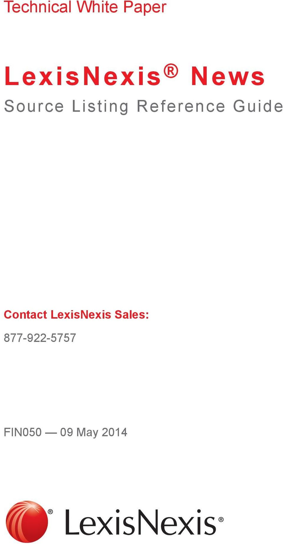 Technical White Paper Lexisnexis News Source Listing Reference