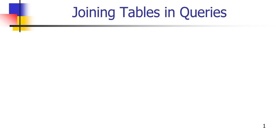 Joining Tables In Queries Pdf