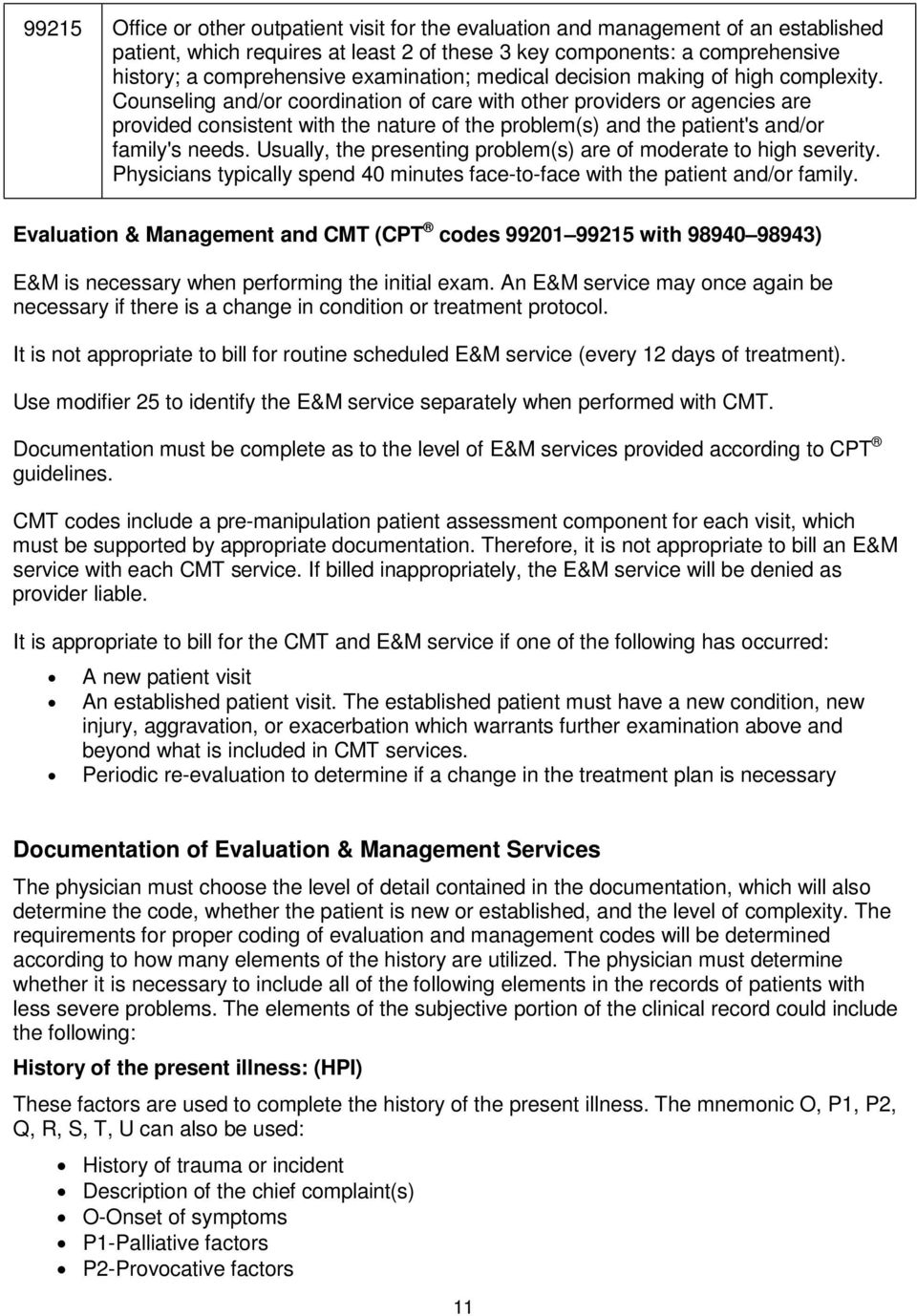 cpt code for cranial manipulation