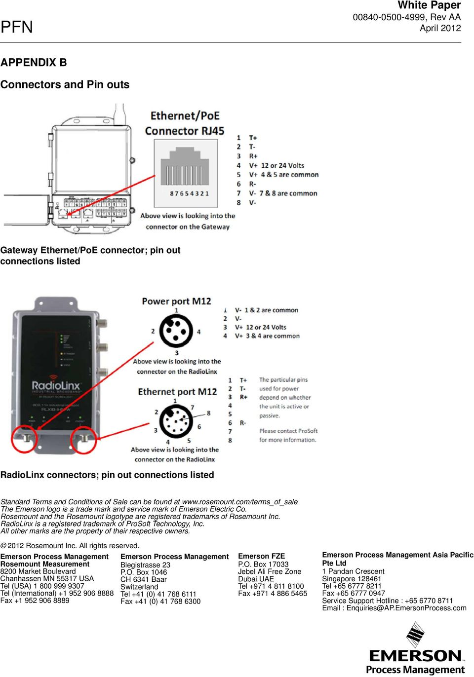 Techniques For Interconnecting Smart Wireless Gateways To Prosoft Poweroverethernet Poe On Industrialbased Networking Fig 2 Rosemount And The Logotype Are Registered Trademarks Of Inc Radiolinx Is A