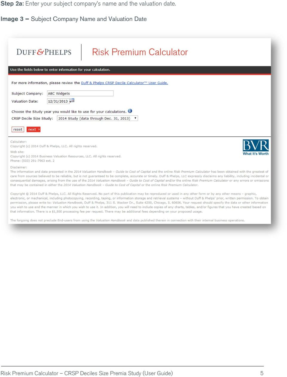 Risk Premium Calculator - PDF