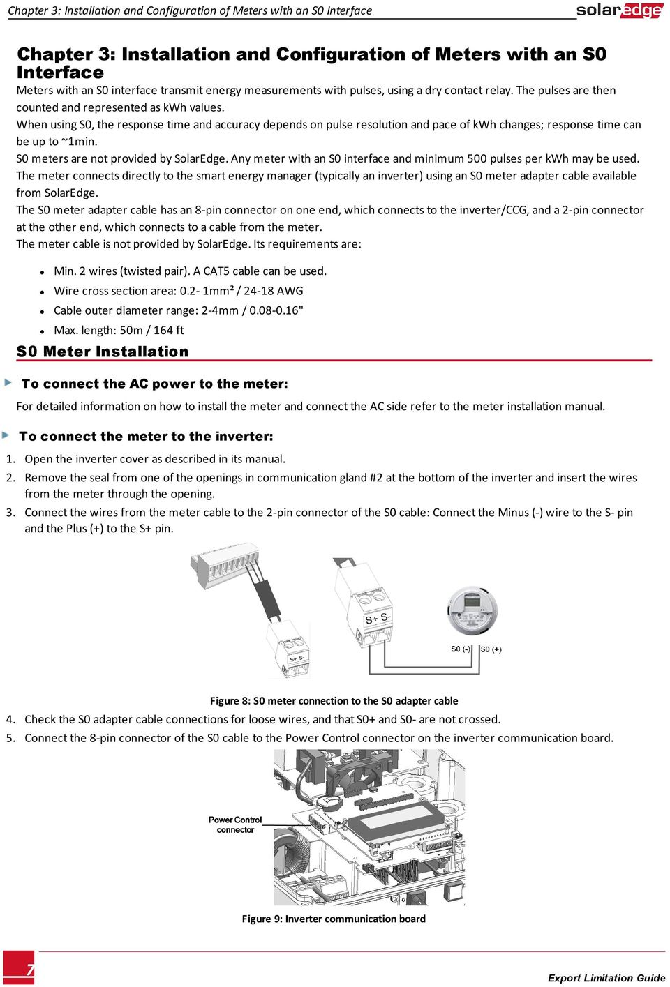 Solaredge Export Limitation Guide Pdf Cat5 Cable Wiring When Using S0 The Response Time And Accuracy Depends On Pulse Resolution Pace Of