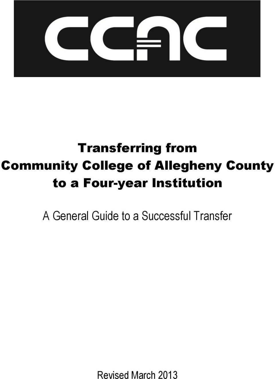 Institution A General Guide to a