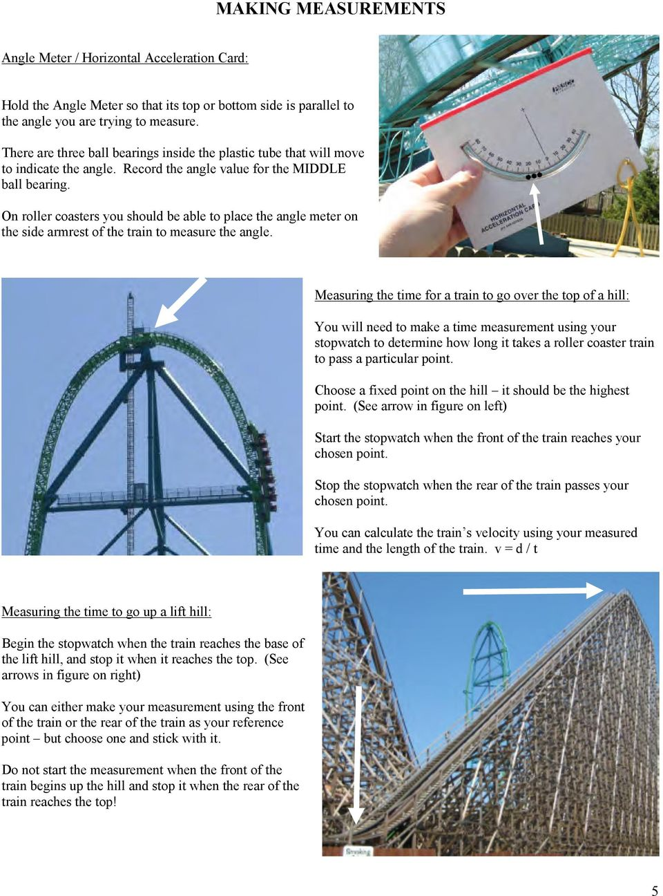 Physics Workbook 2013 Edition Written By Tom Paterson Pdf Roller Coaster Train Diagram On Coasters You Should Be Able To Place The Angle Meter Side Armrest