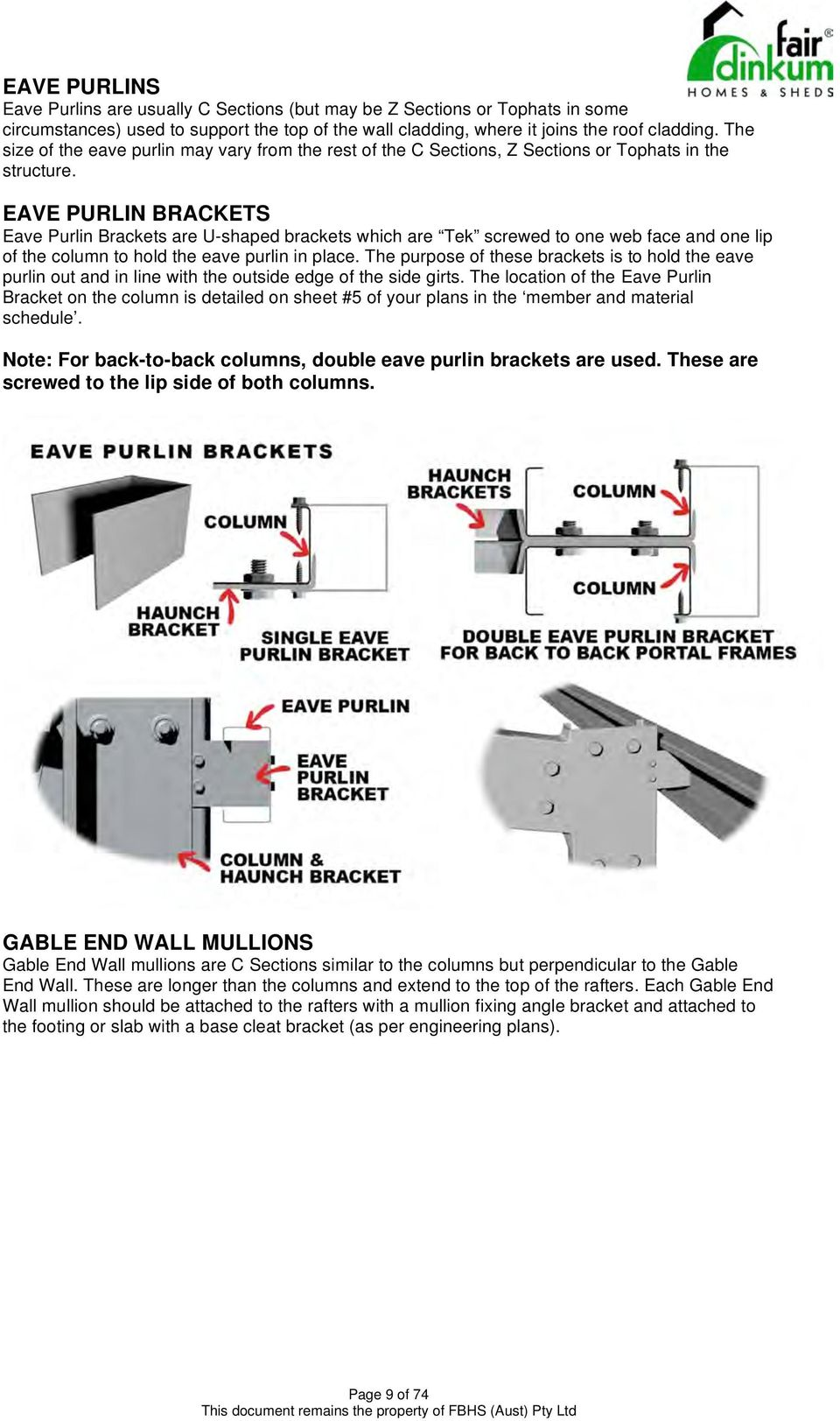 STEEL BUILDINGS RECOMMENDED INSTALLATION GUIDE - PDF