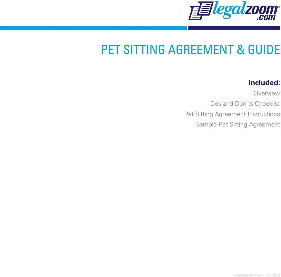 pet sitting agreement guide pdf