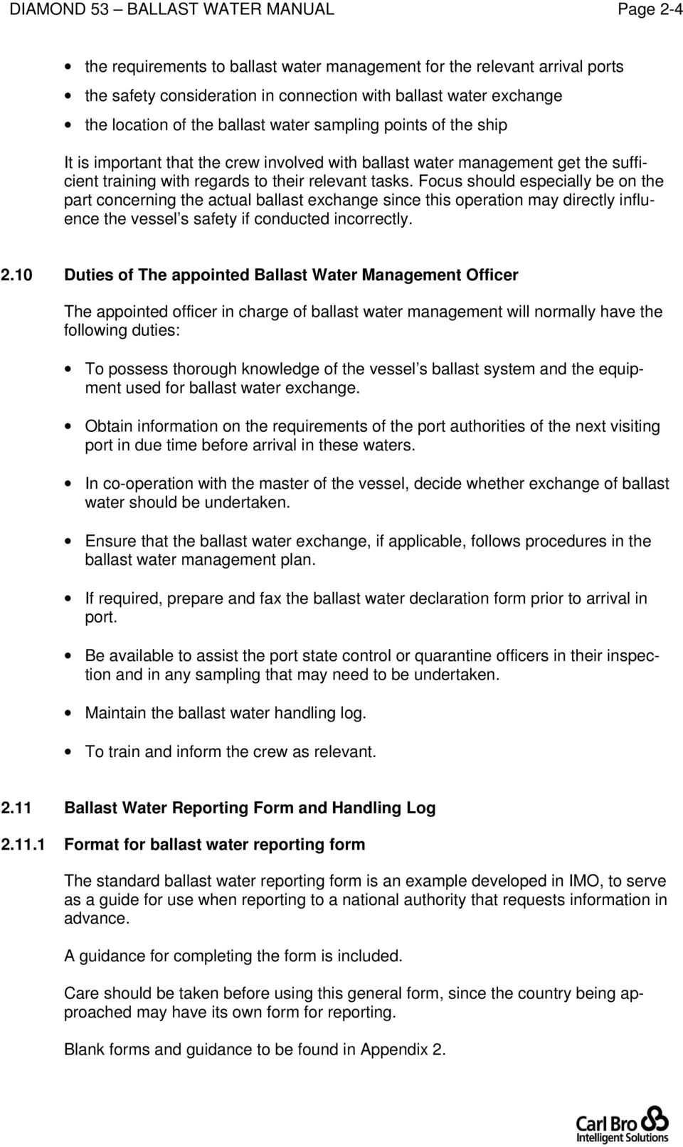 Ballast Water Management Manual Pdf T5 Wiring Q The Reef Tank Focus Should Especially Be On Part Concerning Actual Exchange Since This Operation May