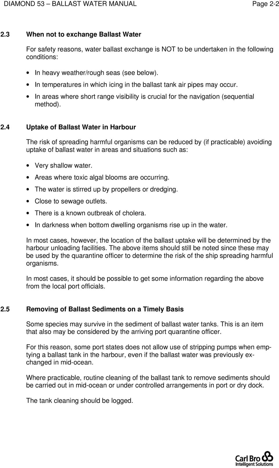 Ballast Water Management Manual Pdf T5 Wiring Q The Reef Tank In Temperatures Which Icing Air Pipes May Occur Areas