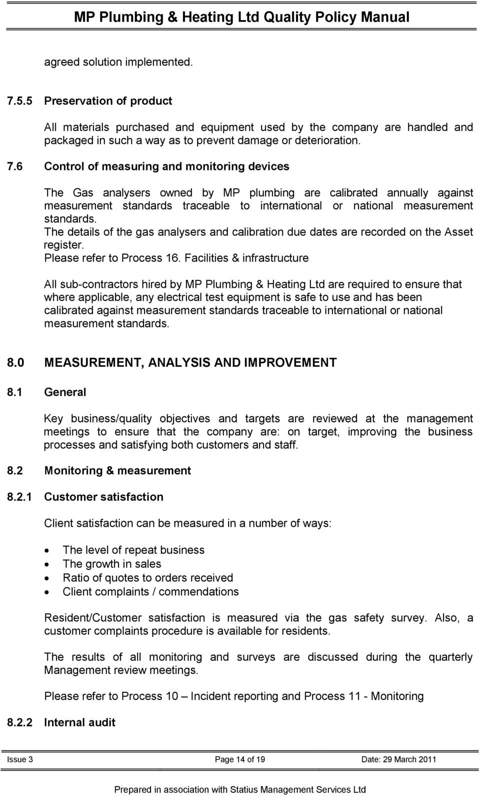 Health /& Safety Documents /& Risk Assessment Templates for Plumbers//Heating Engineers