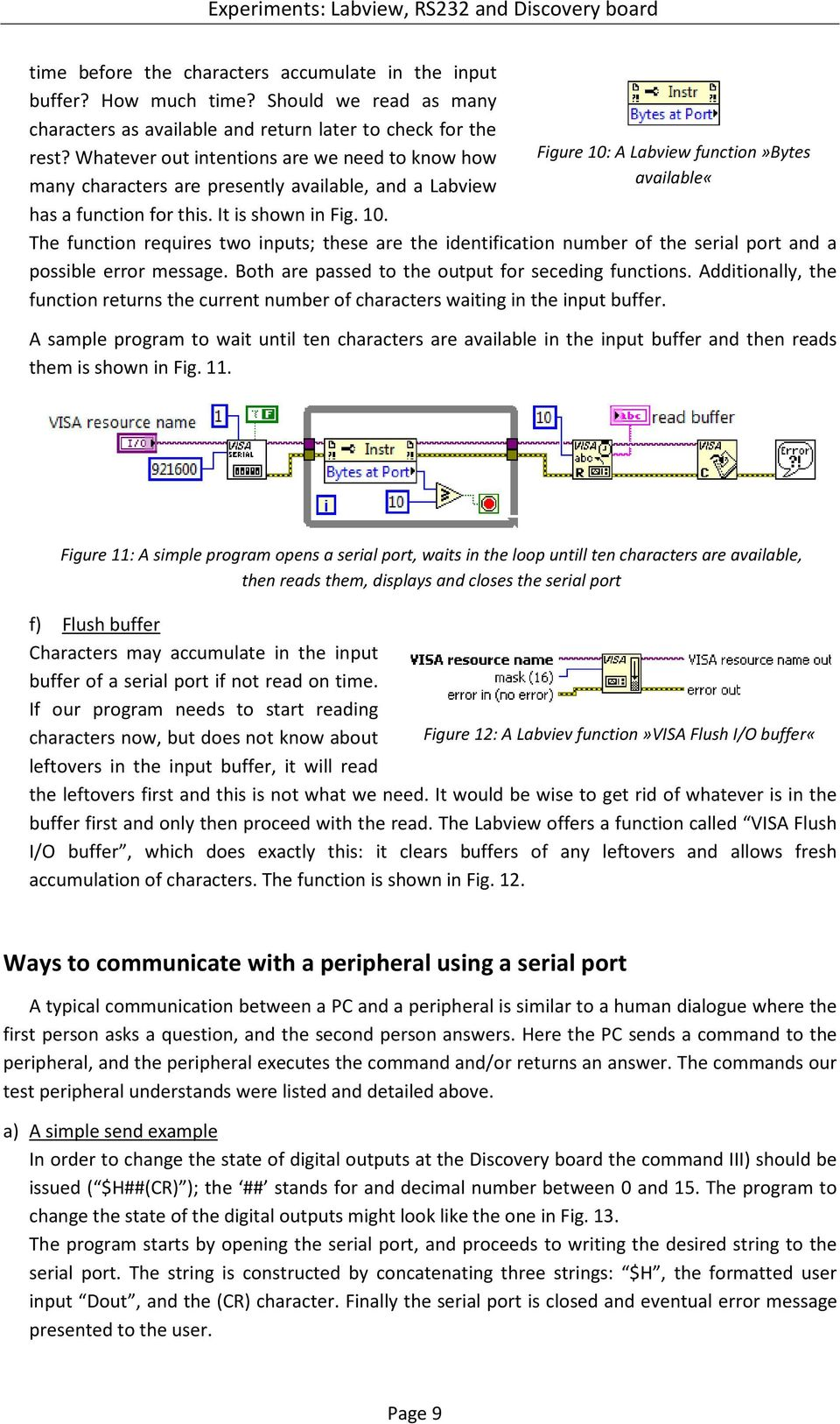 Experiments: Labview and RS232 - PDF