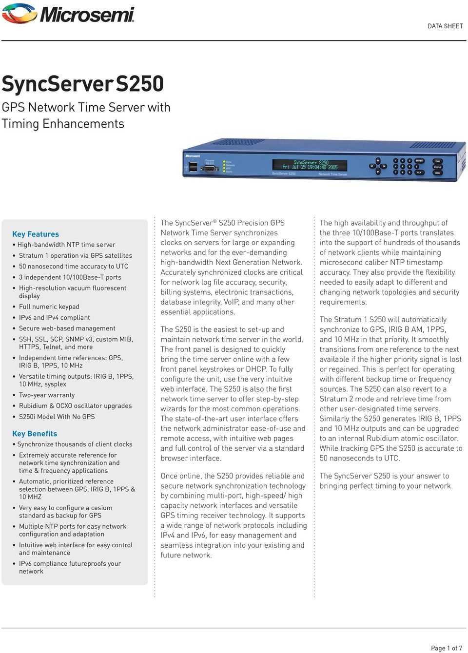 SyncServer S250 S250 NETWORKING EXCELLENCE  Examples of Network