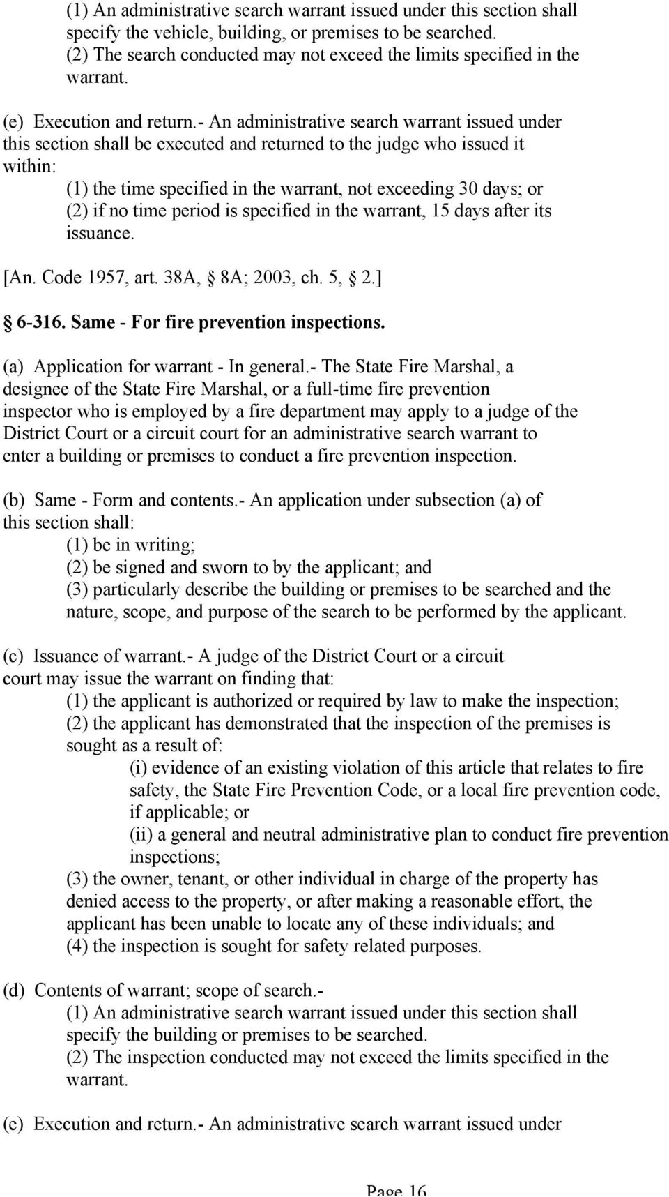 ANNOTATED CODE OF MARYLAND PUBLIC SAFETY ARTICLE TITLE 6