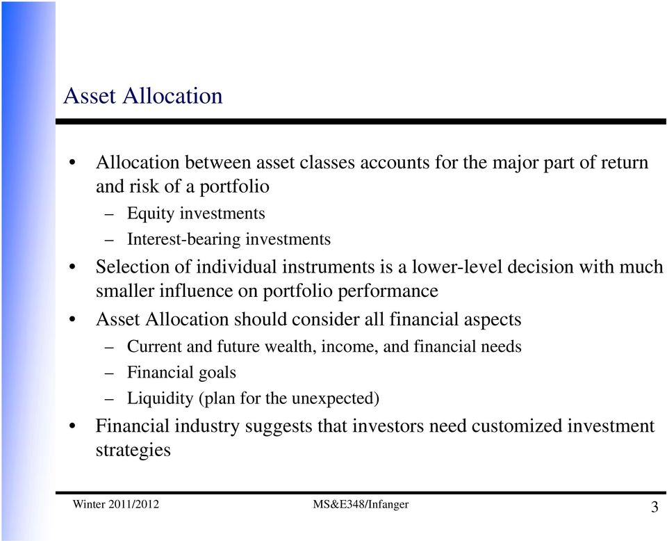 Dynamic Asset Allocation Using Stochastic Programming and