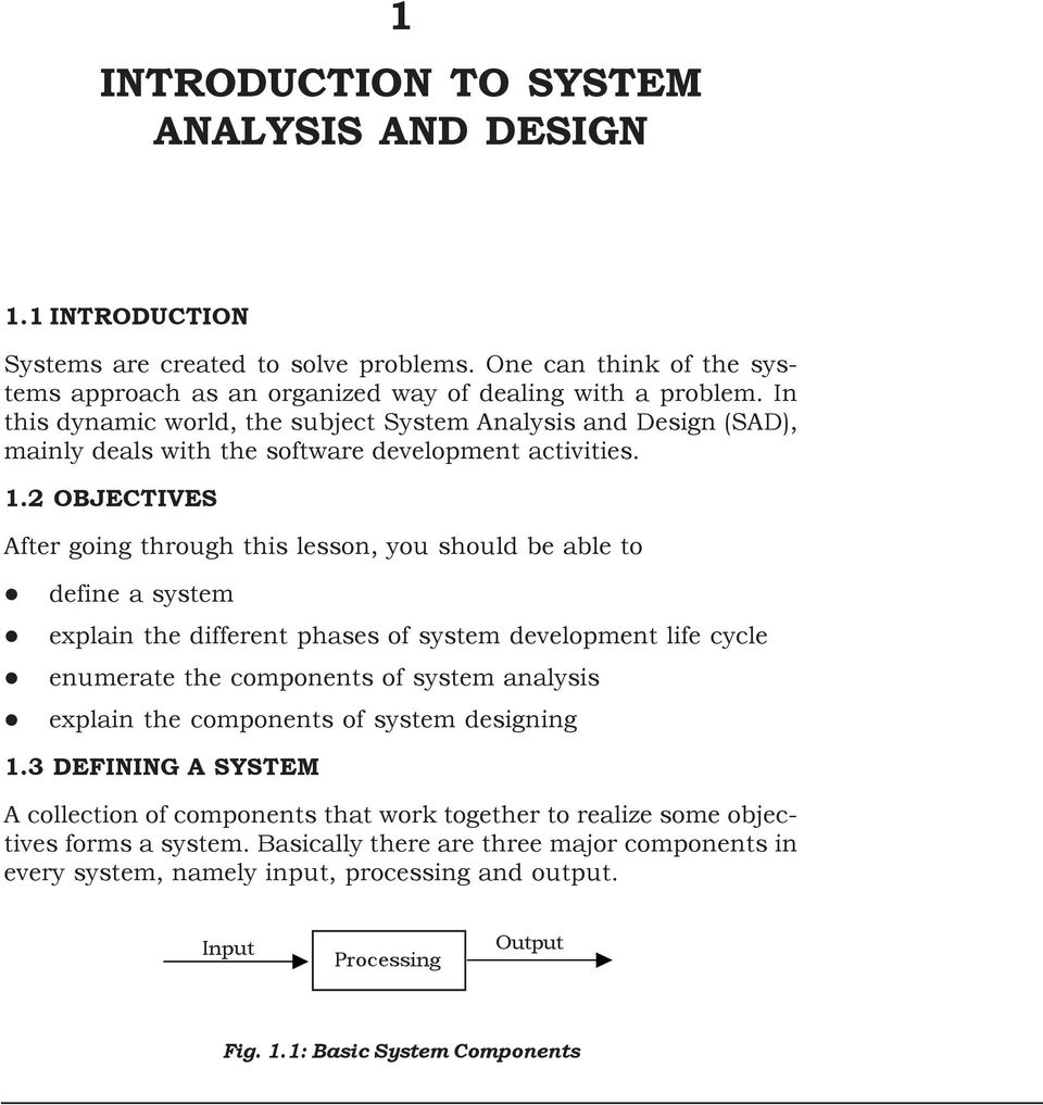 1 Introduction To System Analysis And Design Pdf Free Download