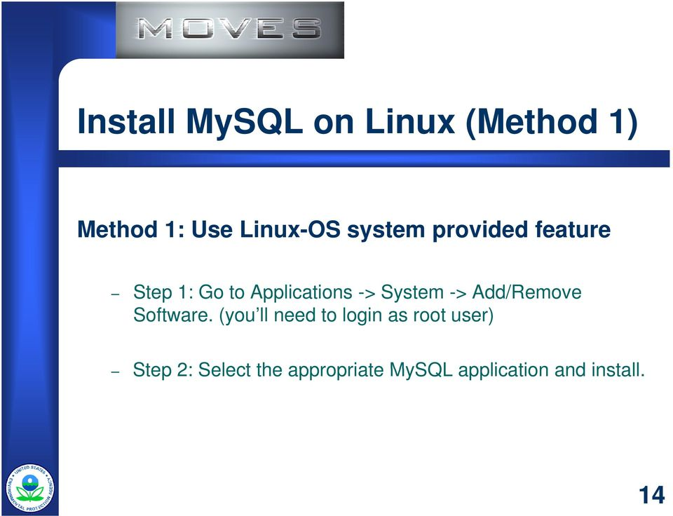 System -> Add/Remove Software.
