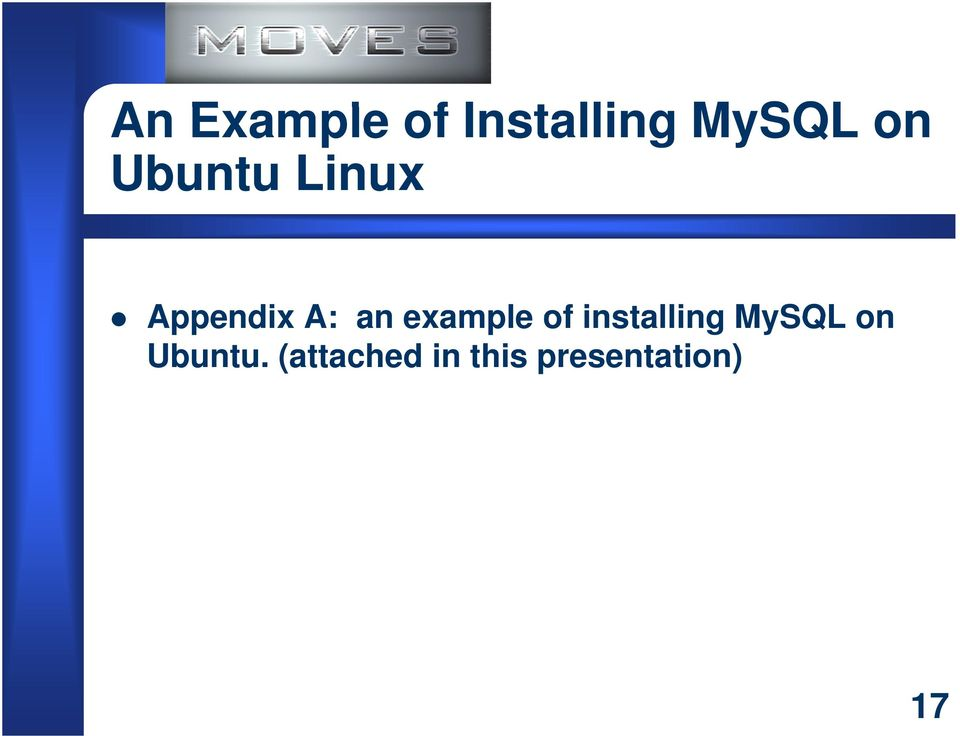 example of installing MySQL on