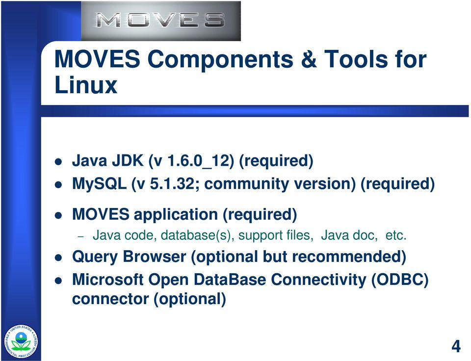application (required) Java code, database(s), support files, Java doc, etc.