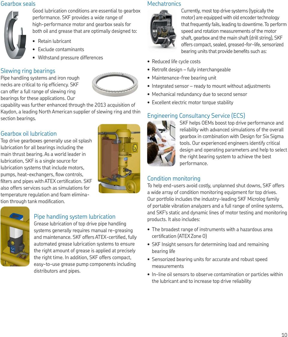 SKF upstream oil and gas solutions - PDF