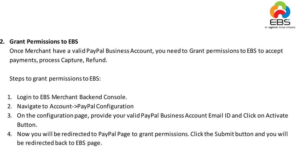 Navigate to Account->PayPal Configuration 3.