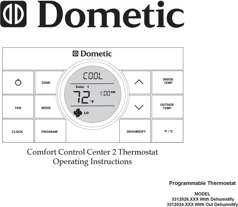 Programmable Thermostat Model Xxx With Dehumidify Out Duo Therm Troubleshooting 3312026