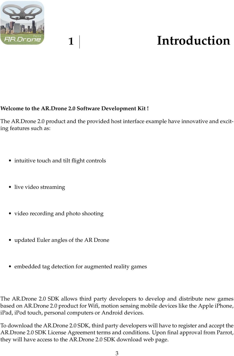 Ar Drone 2 0 Wiring Diagram Developer Guide Sdk Pdf Product And The Provided Host Interface Example Have Innovative Exciting Features Such As