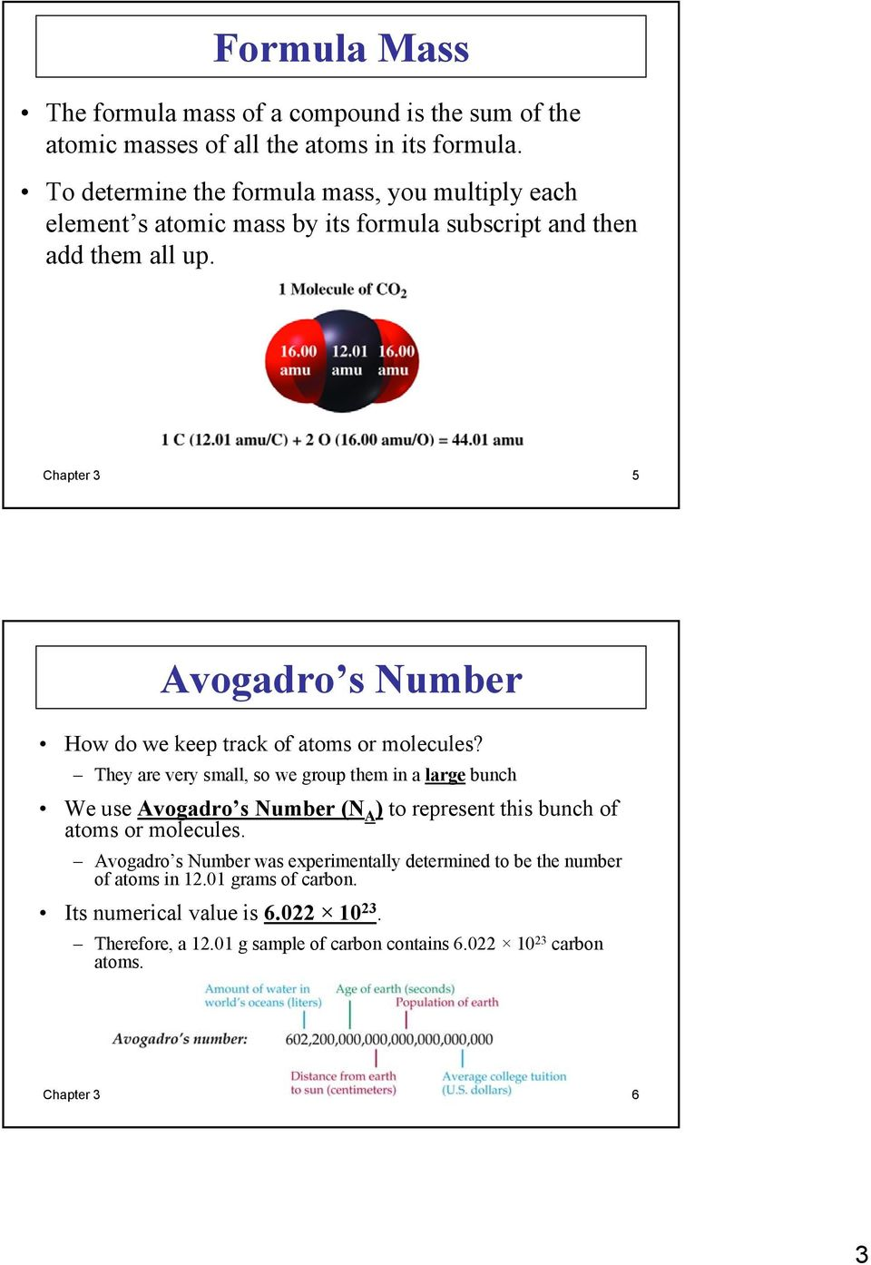 Chapter 3 5 Avogadro s Number How do we keep track of atoms or molecules?