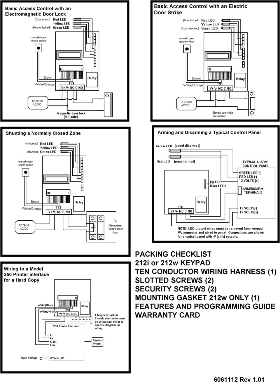 features and programming guide commandandcontrolseries pdf  iei keypads wiring diagram wiring