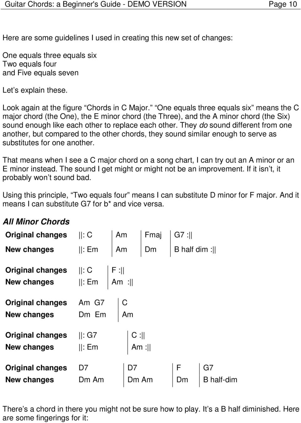 Guitar Chords a Beginner's Guide DEMO VERSION by Darrin Koltow ...