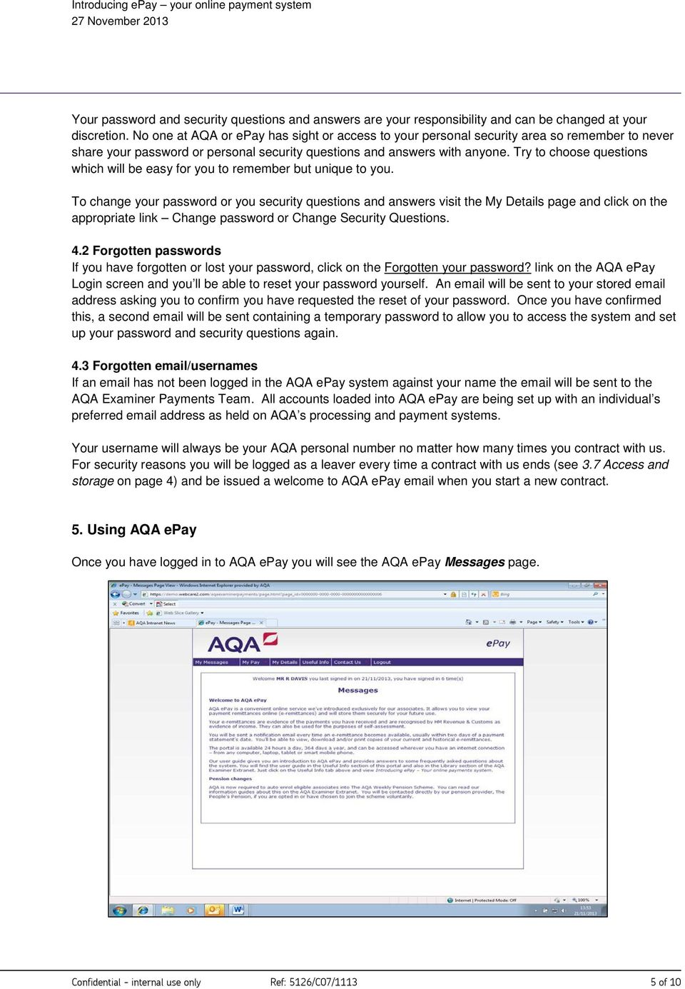 Introducing AQA epay Your online payment system - PDF