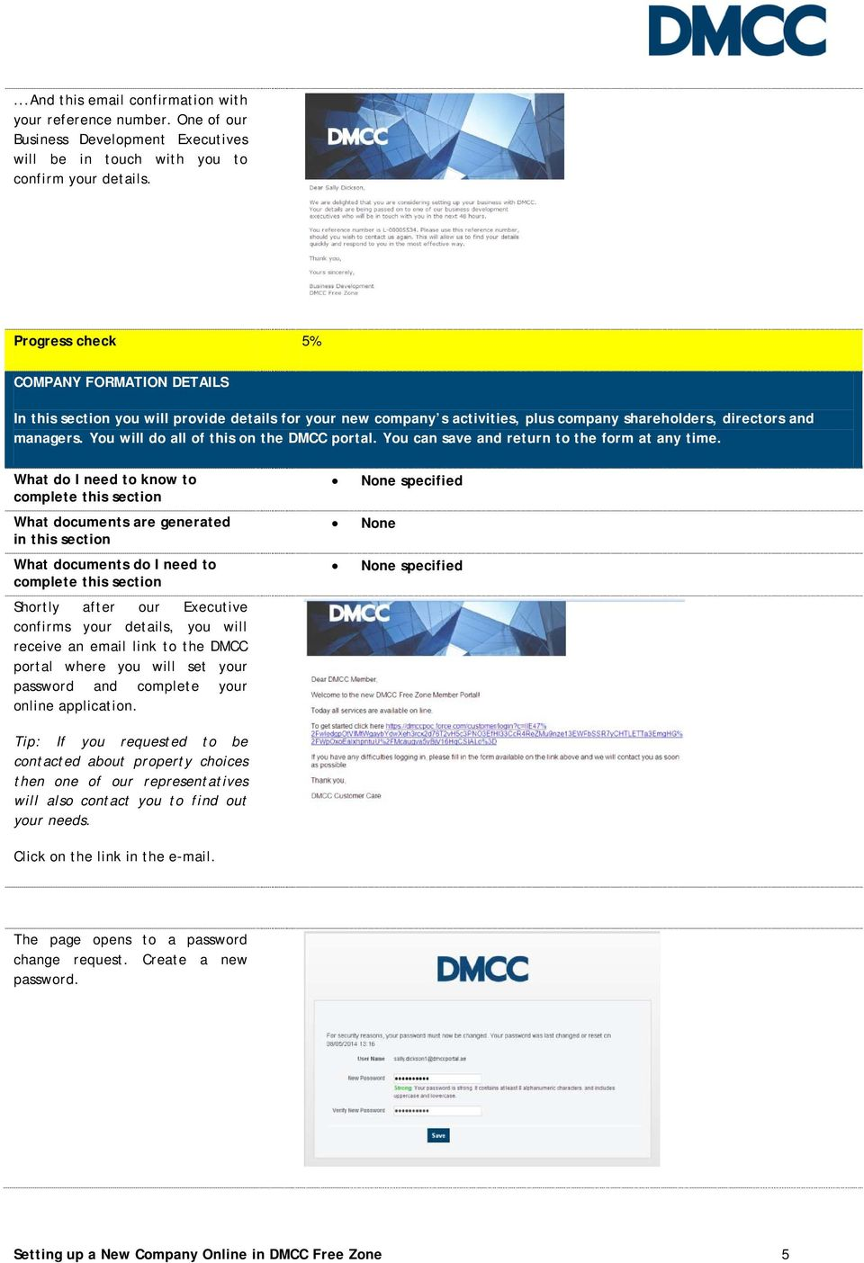 Setting up a New Company Online in DMCC Free Zone  Anyone