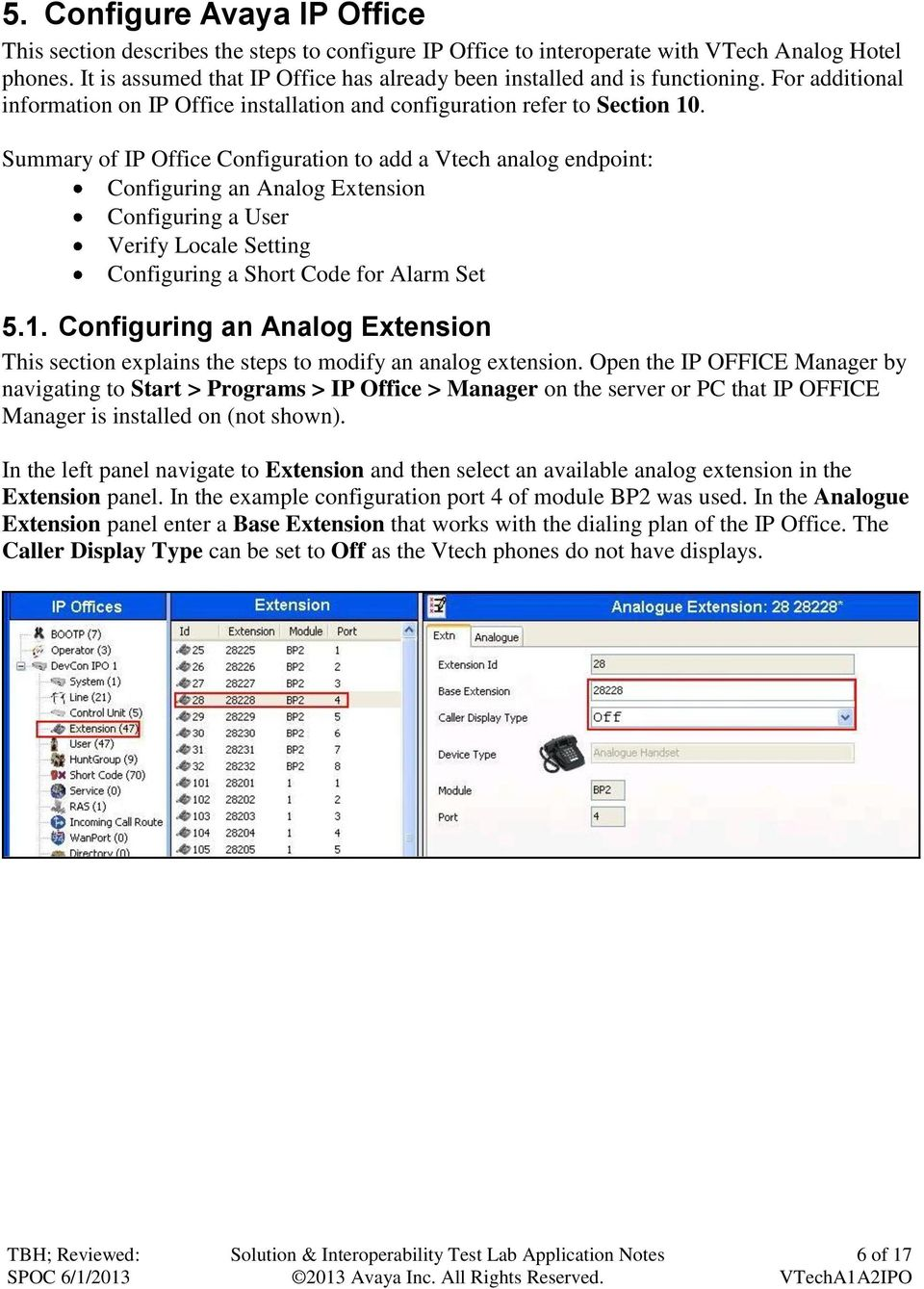 Application Notes for VTech 1-Line and 2-Line Analog Hotel Phones