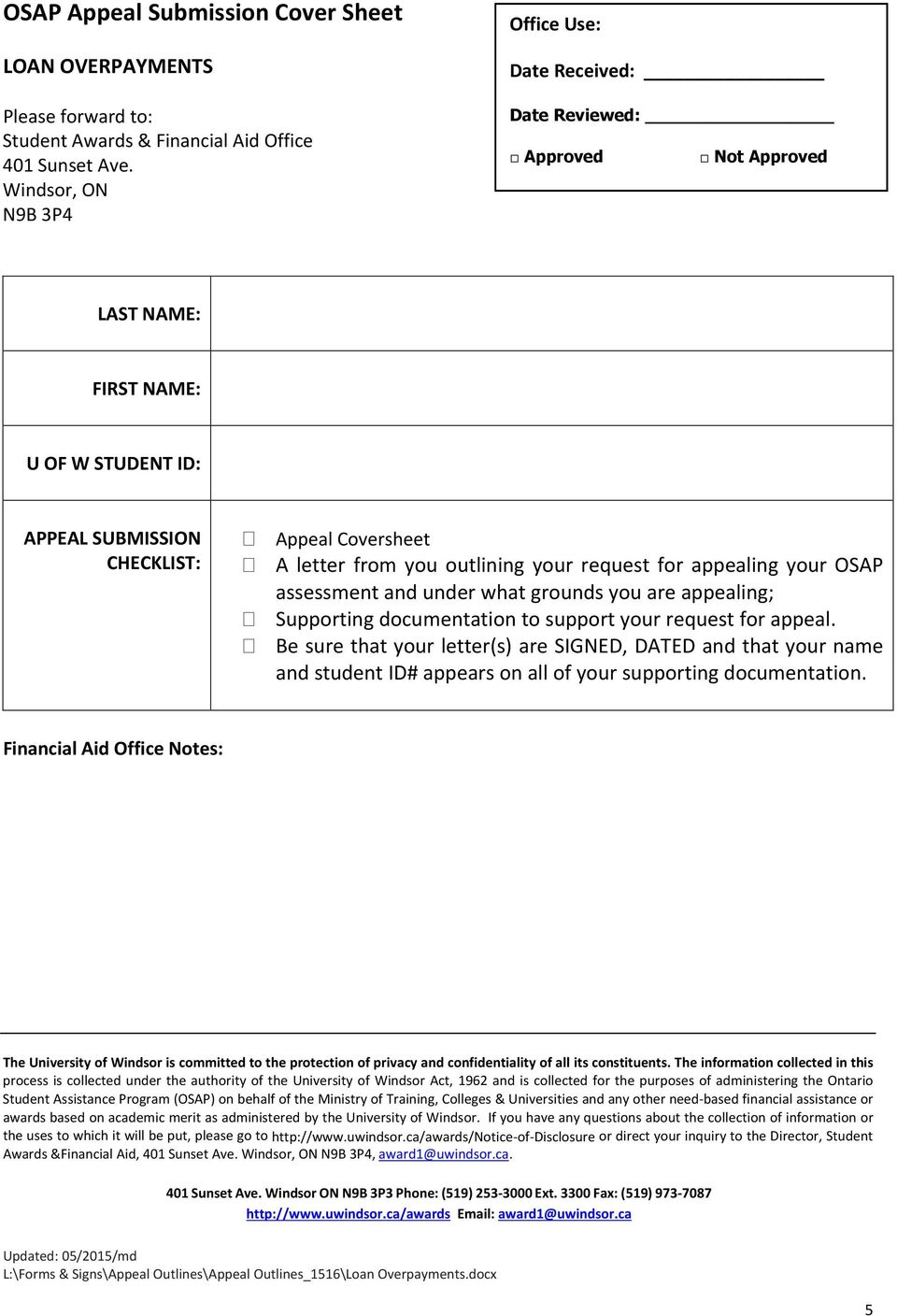 osap letter of appeal example