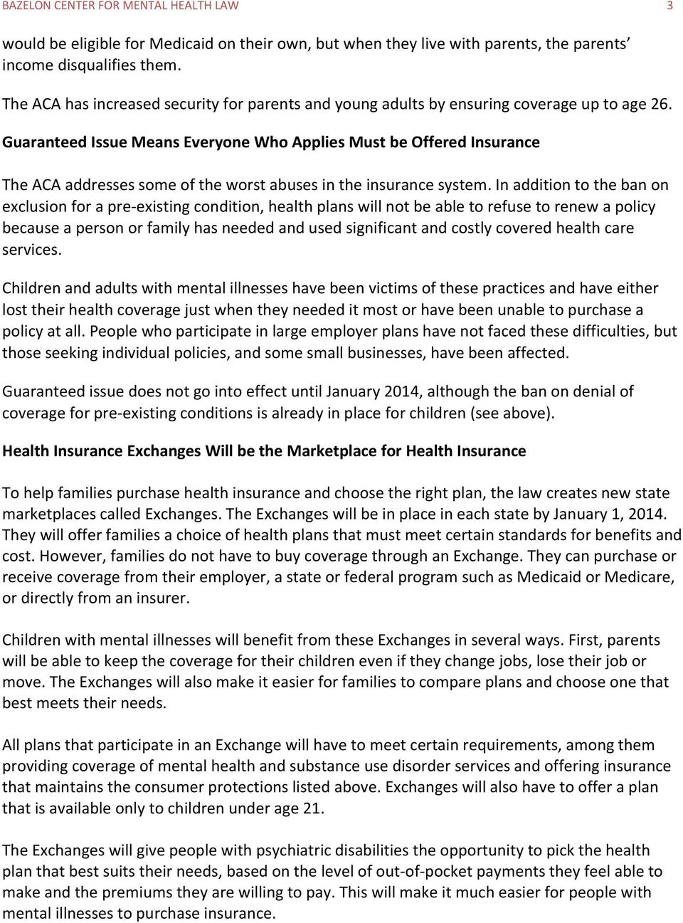 How Health Reform Will Help Children With Mental Health Needs Pdf