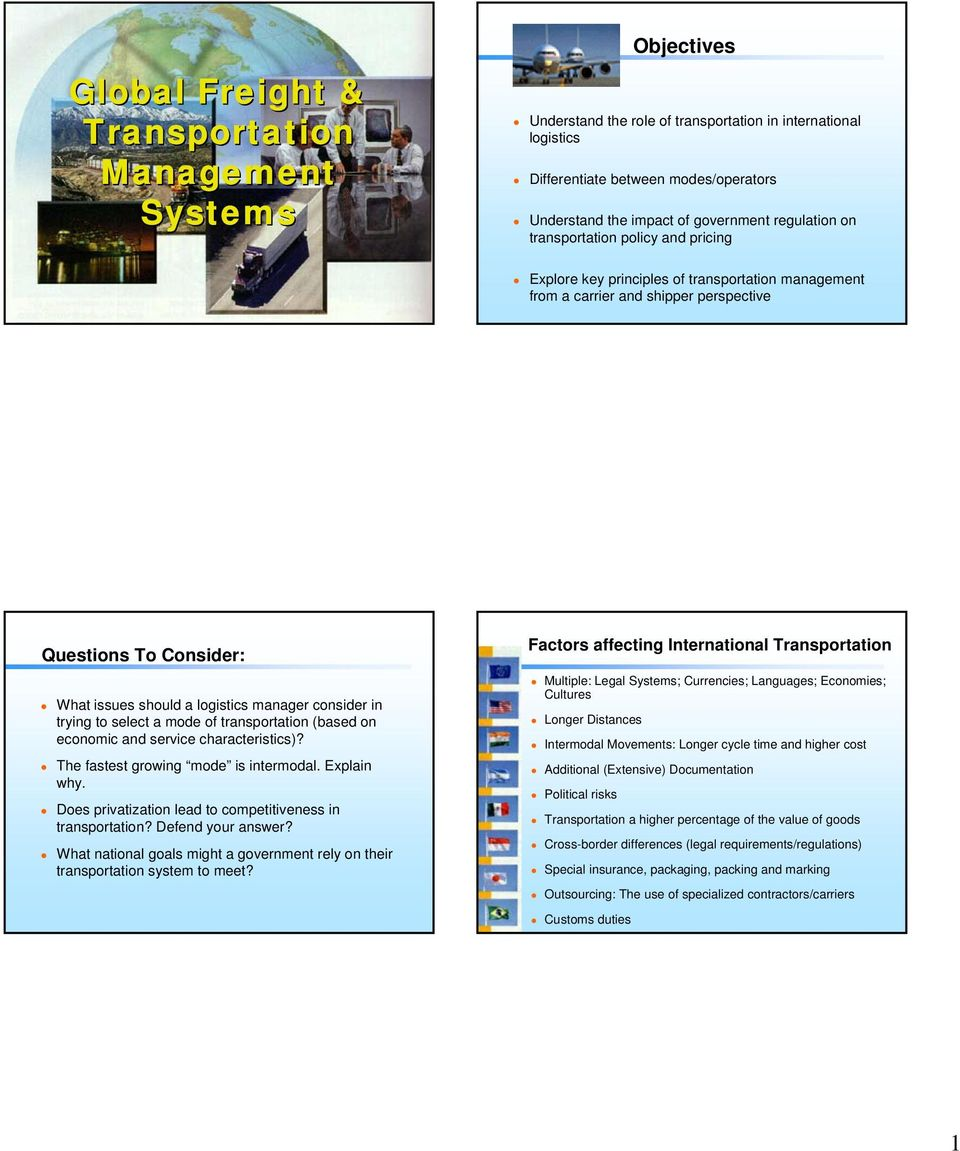 Global Freight & Transportation Management Systems - PDF