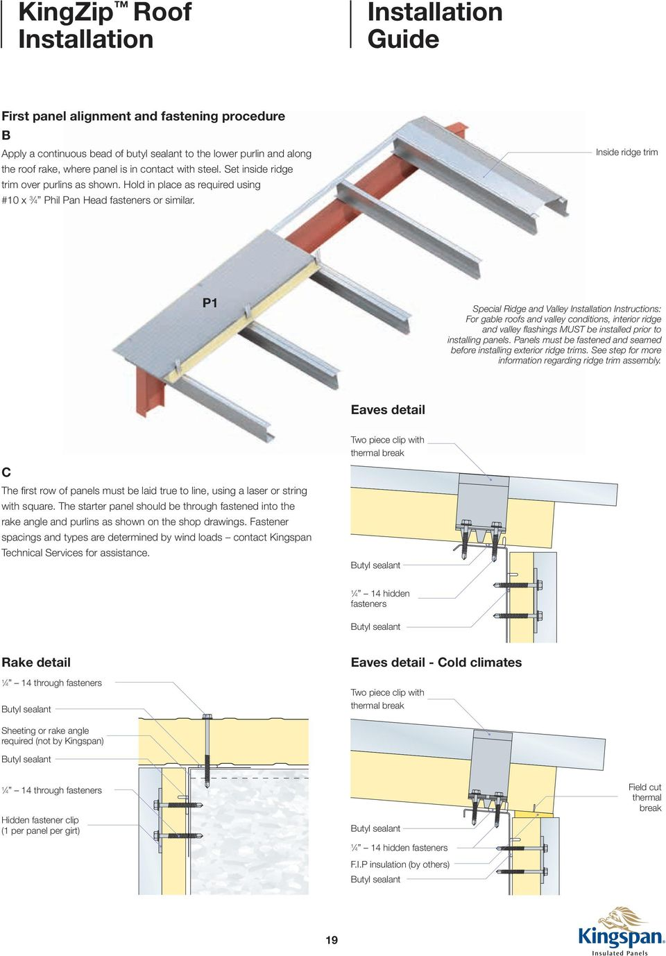 Installation  Insulated Standing Seam Roof System - PDF