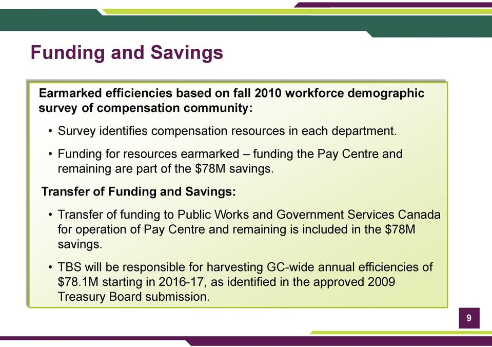 Government of Canada Transformation of Pay Administration