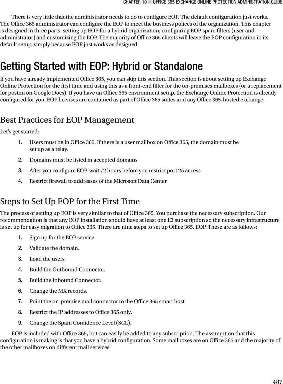 Office 365 Exchange Online Protection Administration Guide - PDF