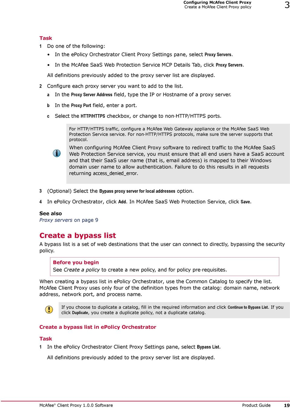 McAfee Client Proxy Software - PDF