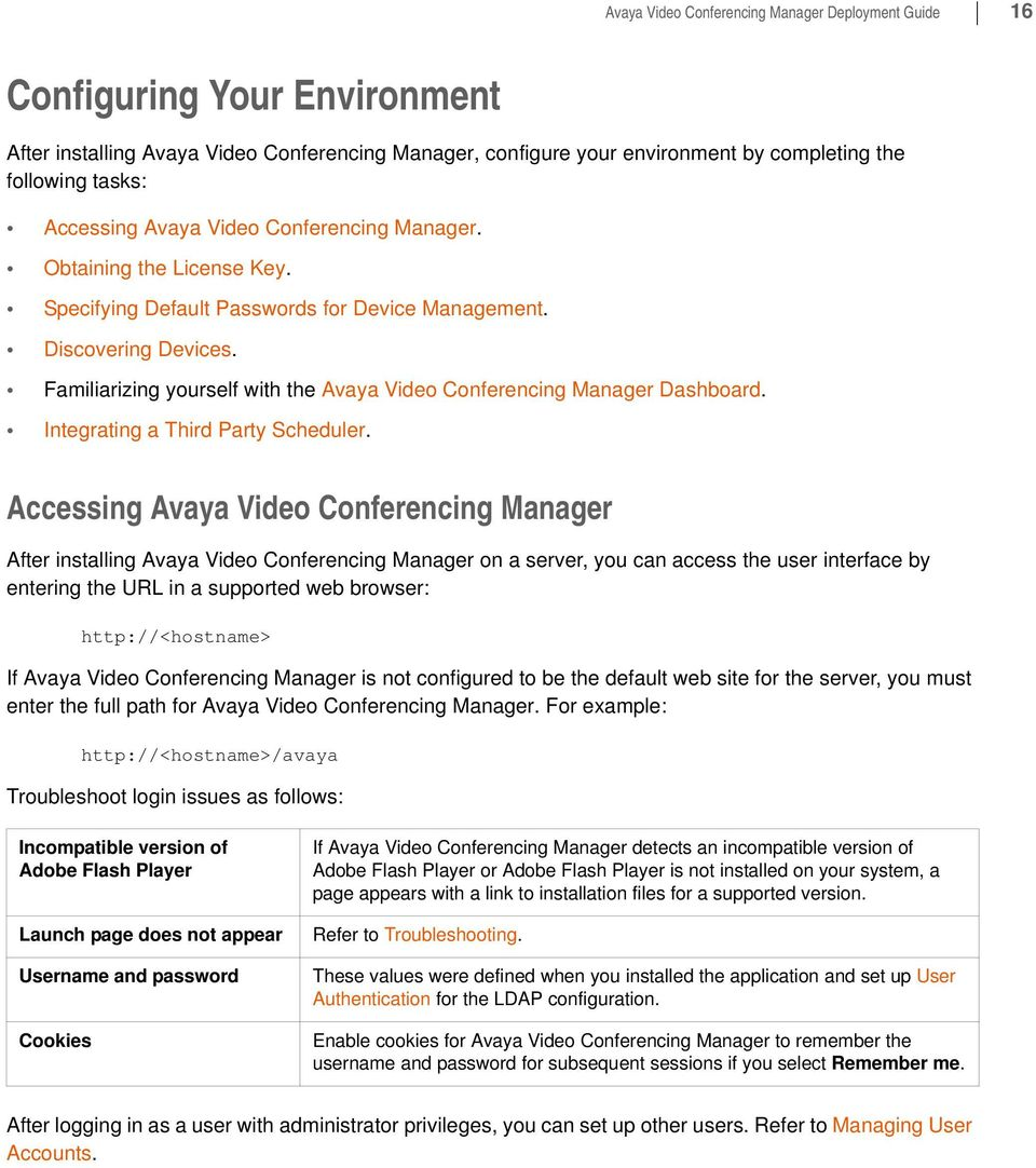 Avaya Video Conferencing Manager Deployment Guide - PDF