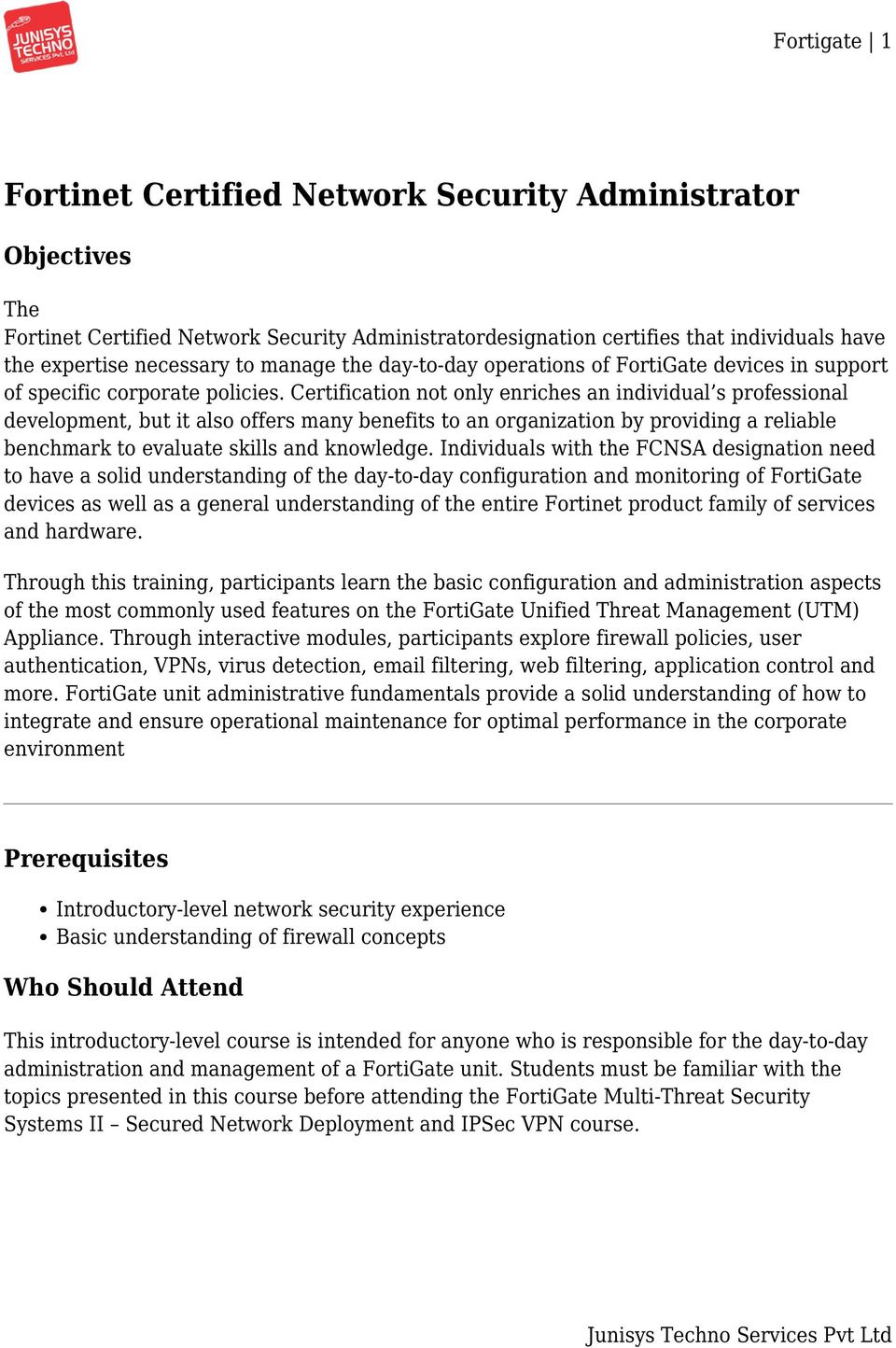 Fortinet Certified Network Security Administrator Pdf