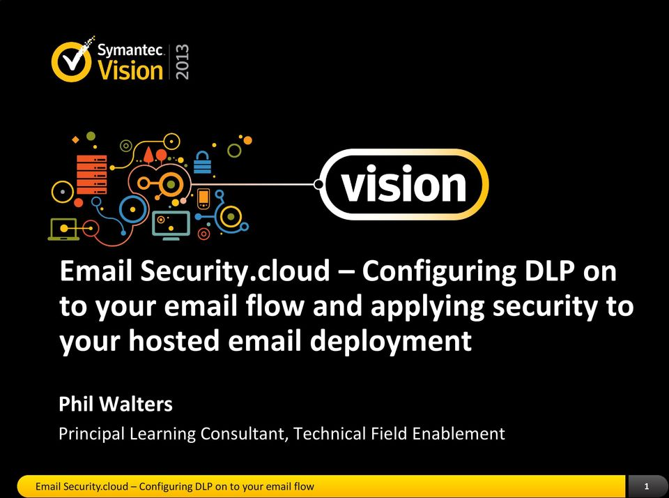 security to your hosted email deployment Phil Walters