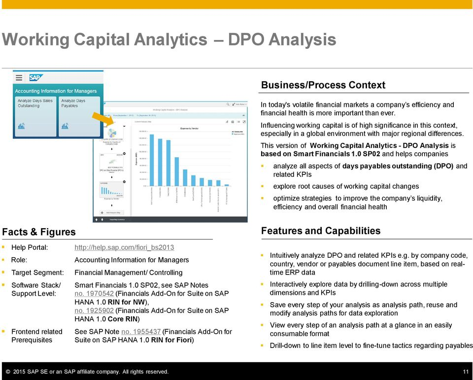 This version of Working Capital Analytics - DPO Analysis is based on Smart Financials 1.