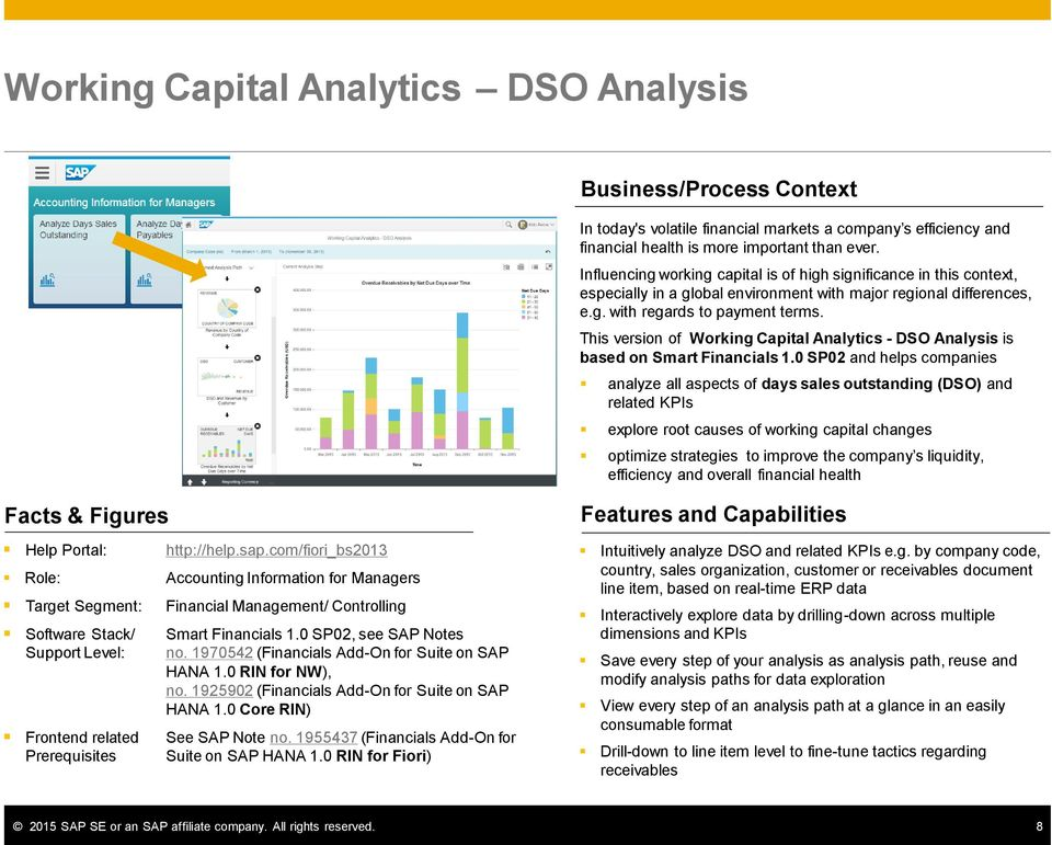 This version of Working Capital Analytics - DSO Analysis is based on Smart Financials 1.