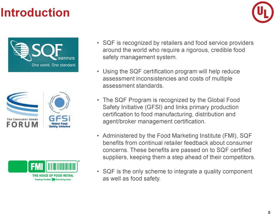 A Natural Products Association Presents  SQF Certification
