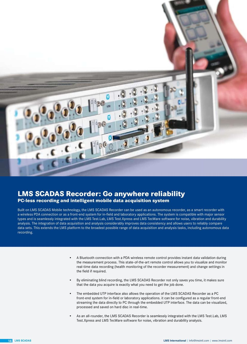 Lms Scadas Versatile High Performance Data Acquisition Systems Pdf Hardware Circuit Of Pcbased Logger Is Designed Around Analog The System Compatible With Major Sensor Types And Seamlessly Integrated Test
