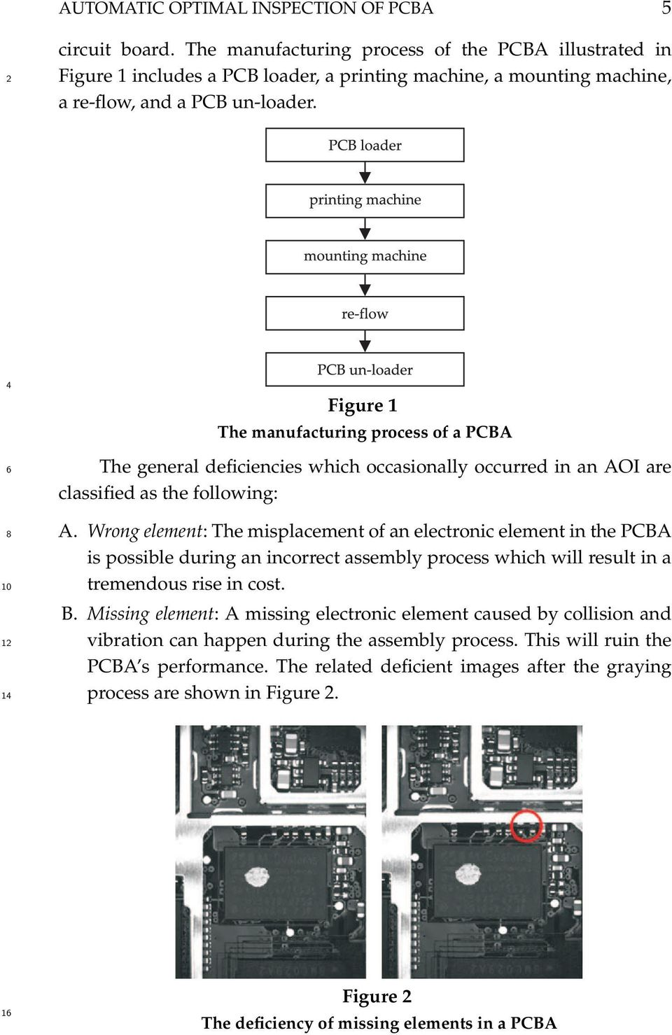 The Application Of Image Division Method On Automatic Optical 10 Circuit Board Composition Notebook 1 Figure Manufacturing Process A Pcba General Deficiencies Which Occasionally Occurred