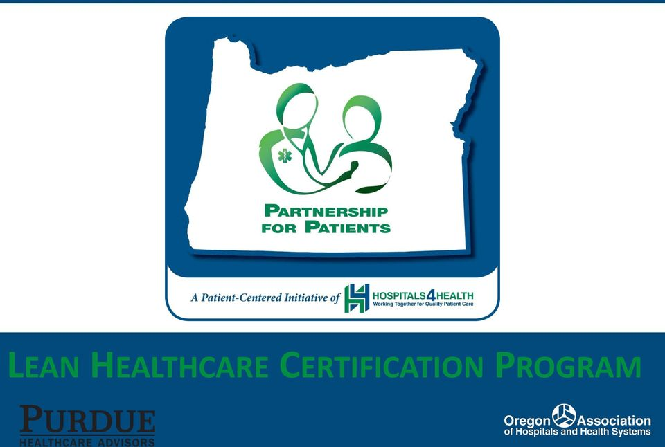 Lean Healthcare Certification Program Pdf