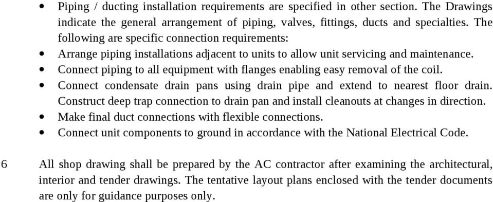GENERAL SPECIFICATION FOR HVAC WORK  1(a) The definition of