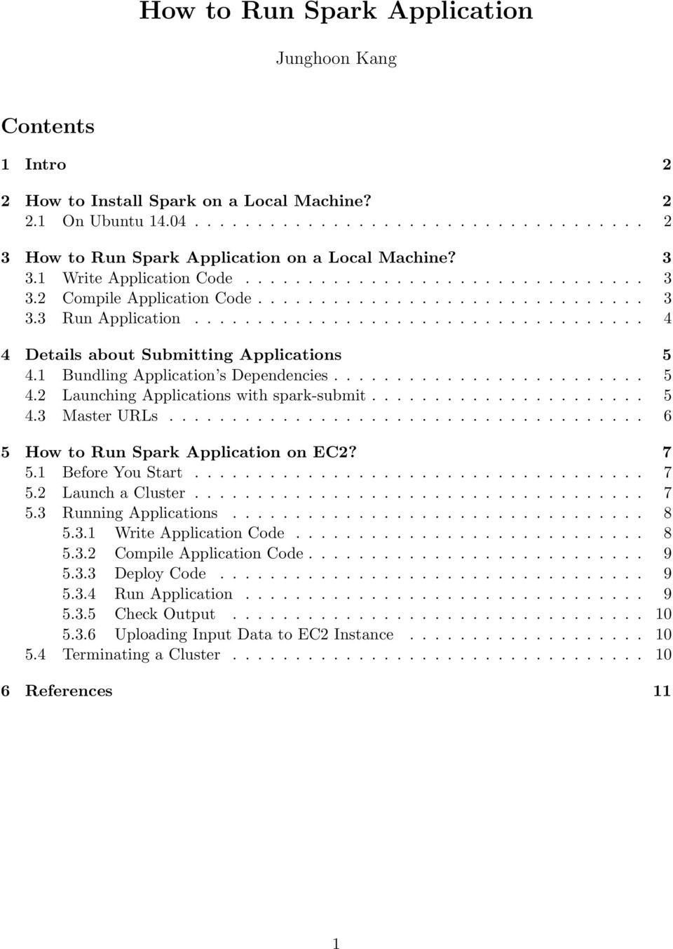 How to Run Spark Application - PDF